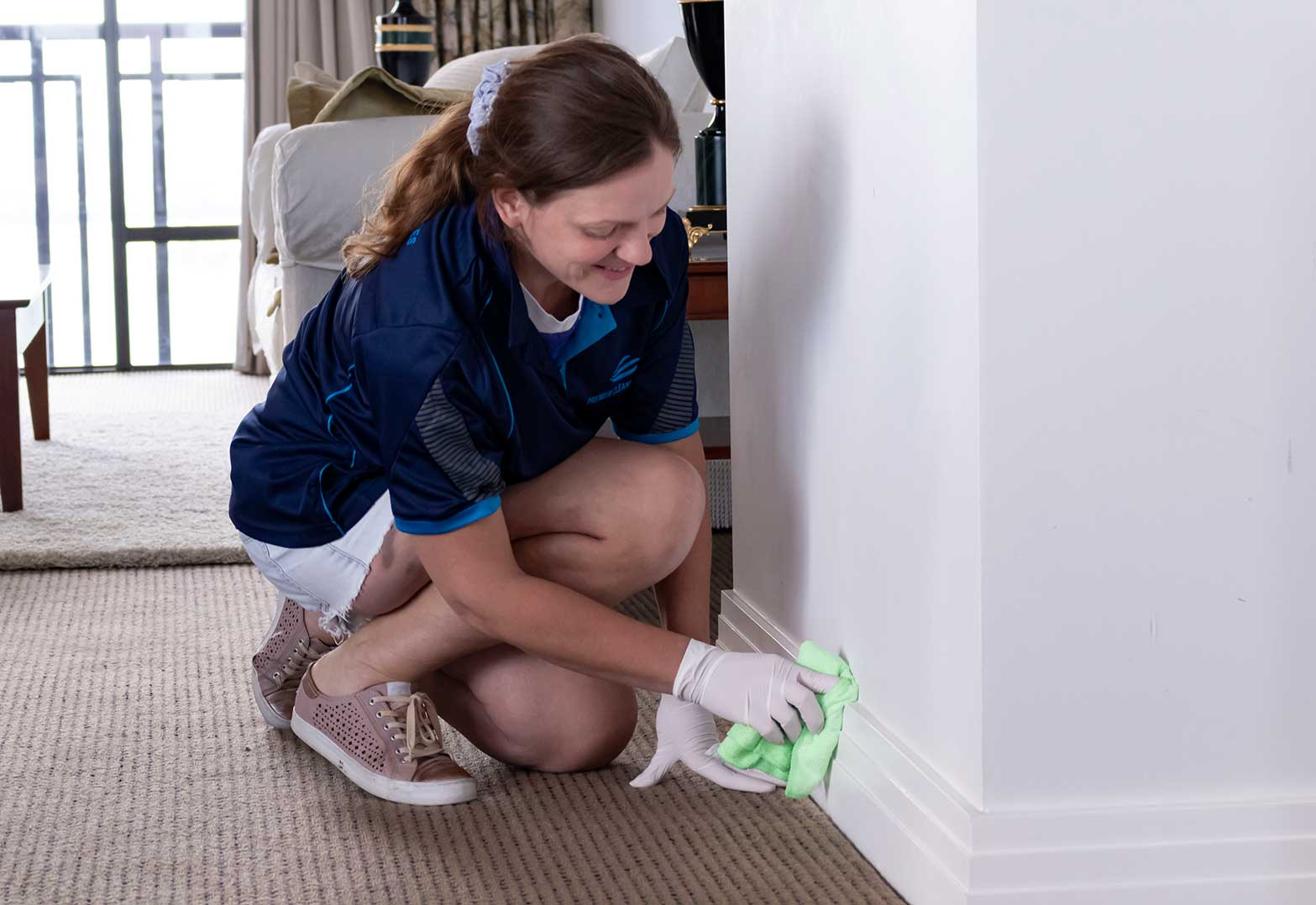 Professional Cleaner Cleaning Walls